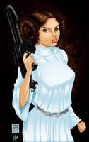 Princess Leia by Art Adams colored by bigMdesign by bigMdesign