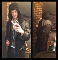 Jacob Frye coat (hood up) by TimeyWimey-007