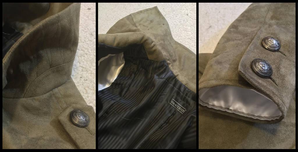 Balmain-inspired moleskin military coat details by TimeyWimey-007