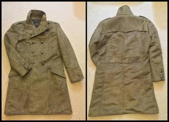 Balmain-inspired moleskin military coat by TimeyWimey-007
