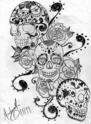 Caveiras Mexicanas 1 by darvinha