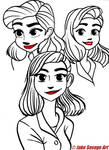 Meg from Paperman by Fires-storm