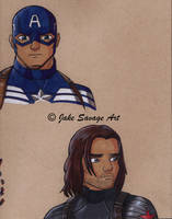 Captain America and Bucky by Fires-storm