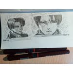 Levi Ackerman sketches from AoT by AkiHugi