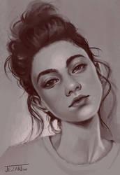 Portrait Sketch by Jezart12