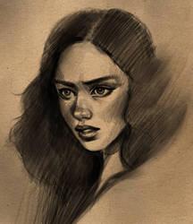 Charcoal Style Sketch by Jezart12