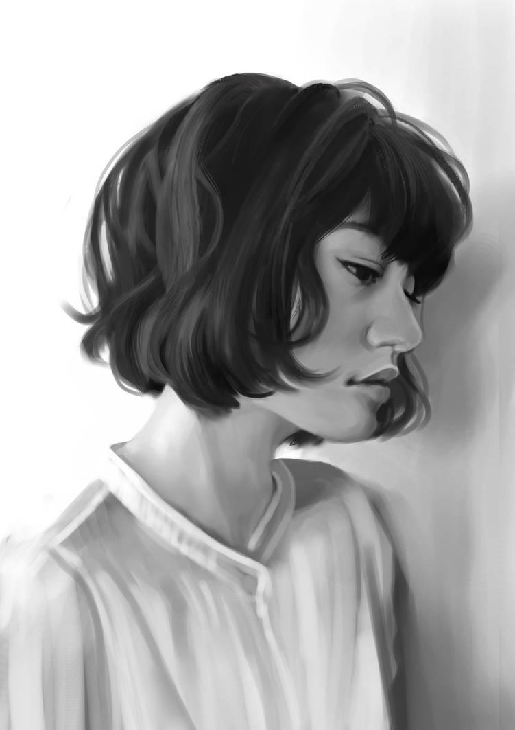 Sad girl (Study) by Jezart12