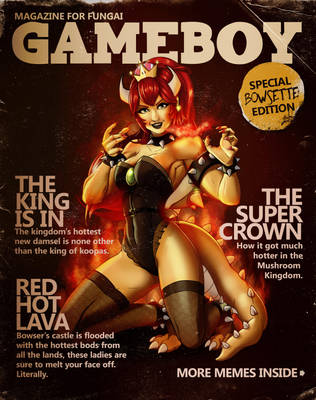 GAMEBOY - Bowsette Issue by steevinlove