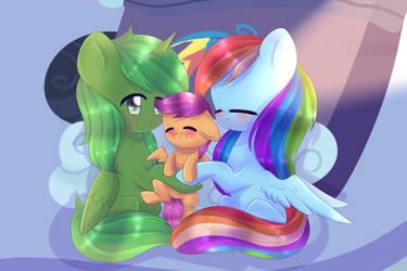 Green and Friends - Anime Hugs by blaa6