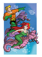 Aquaman and Mera by tzahler