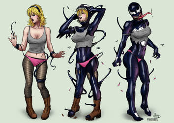 Gwen Stacy Venomized by whatiwrote