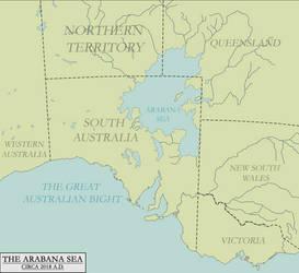 Map of the Arabana Sea by KitFisto1997