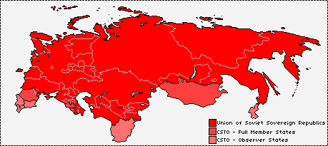 'New Union' USSR Map and Sphere of Influence by KitFisto1997