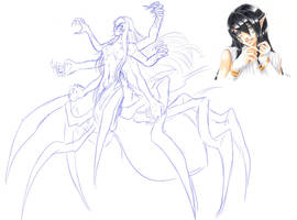 Sketch .:. Rayen - fallen form by Dx33x