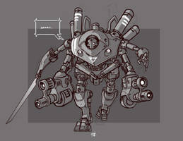 Mecha Sketch 1 by cwalton73