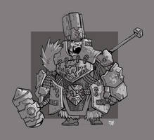 Dwarf Cleric of the Stoneborn Brotherhood by cwalton73