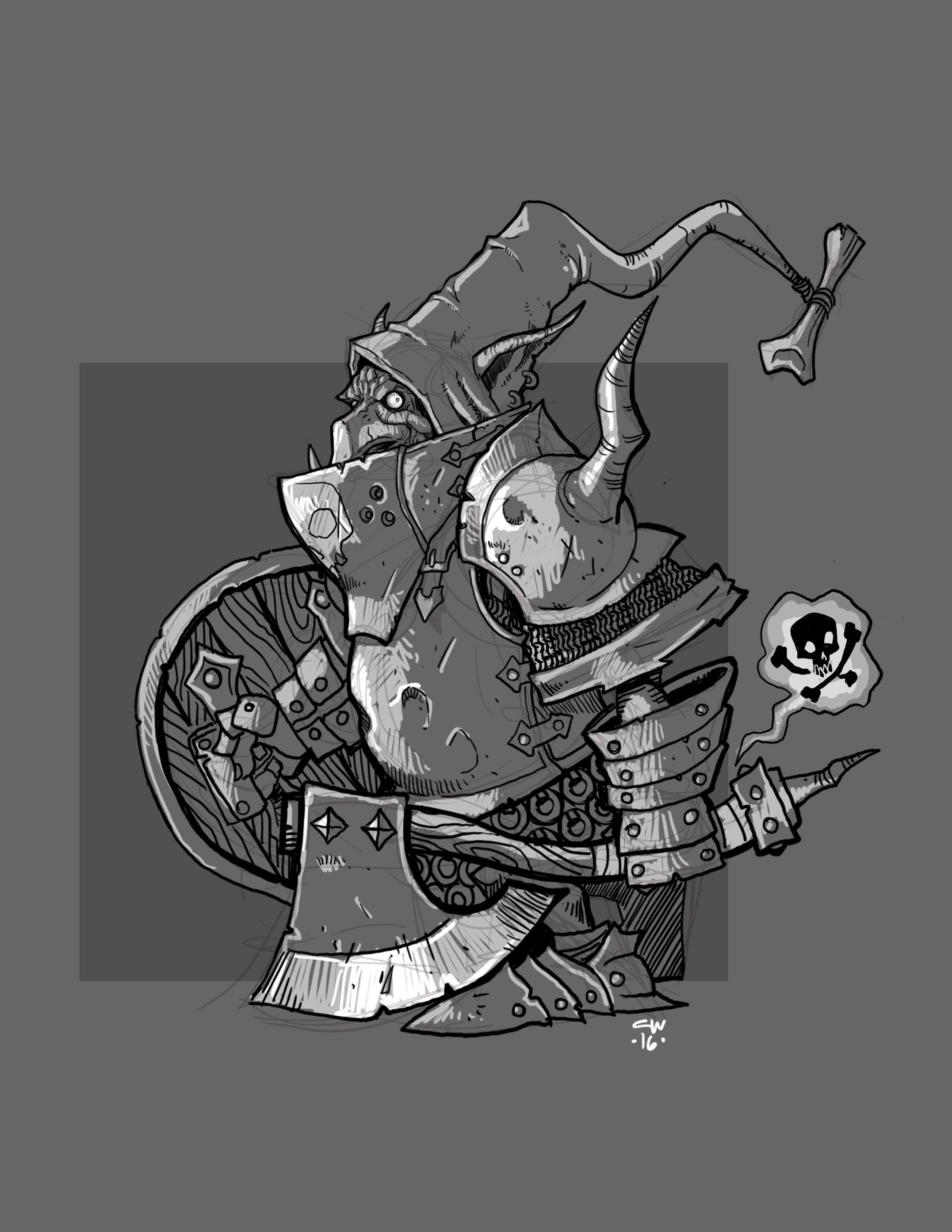 Goblin Knight by cwalton73