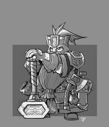 Dwarf Battlesmith by cwalton73