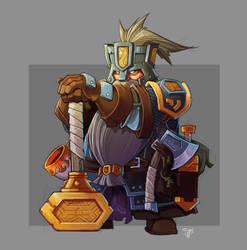 Dwarf Battlesmith In Color! by cwalton73