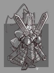 Dwarf Swordswoman by cwalton73
