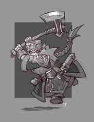 Dwarf Warrior Attack! by cwalton73