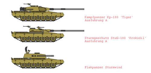 Kampfpanzer Tiger Variants by IgnatiusAxonn