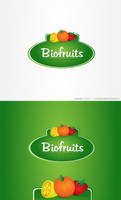 Biofruits logo for sale by dsquaredgfx
