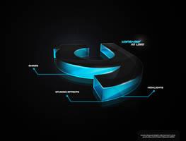 Yanshaw 3D Logo by dsquaredgfx