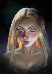 Mina portrait by katrimav