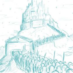 Dream 2016-01-10: Winter Fortress by PileofManga