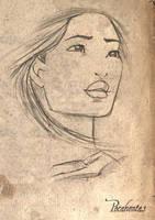 Pocahontas Sketch by SimonPovey