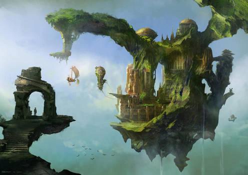 floating palace by jonone