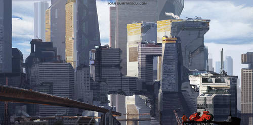 Tower City -akira tribute by jonone