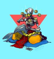 Overwatch's Zenyatta by tinhan