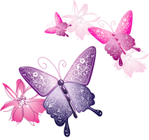 [Res] Decorative Butterflies PNG by HanaBell1