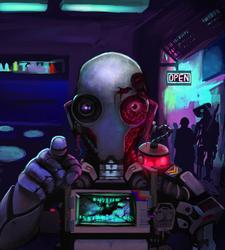Humanoid Robot Digital Painting with Krita 4 by Sazem