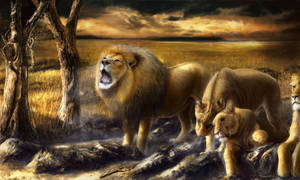 The Pride (painting by Alexander Levett) by AlexanderLevett