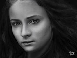 Sansa Stark Portrait Study by AlexanderLevett