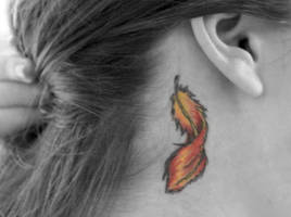 Phoenix Feather Tattoo by KHDPhotography