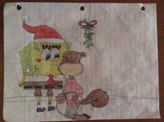 SpongeBob x Sandy - Mistletoe part 2 by stephgomz04