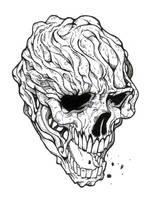 the spitting skull by samuca345