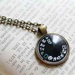 :Camera Dial Necklace: by candymax