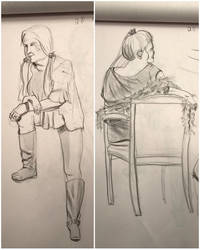 First life figure drawing feb 6, 2017, 20 min by ventimocha