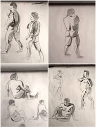 Life figure drawing, feb 13, 2017 by ventimocha
