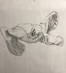 Life drawing clothed model 20 min by ventimocha