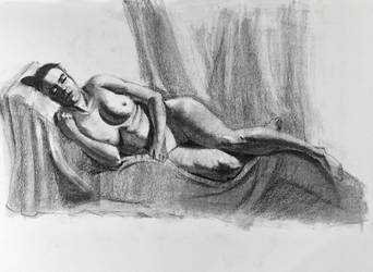 Life drawing - 2.5 hours with breaks in between by ventimocha