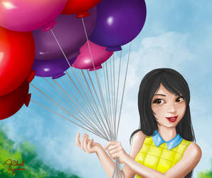 Baloon girl by traithorz