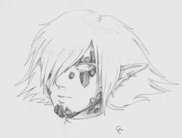 Zel - A quick sketch by QueenCrimson