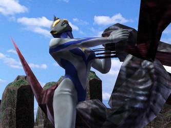 Ultrawoman Louise VS Dark Wasp by Blacksword03
