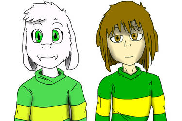 Camila Open Collab Chara and Asriel (+ speedpaint) by LunaBruceYT